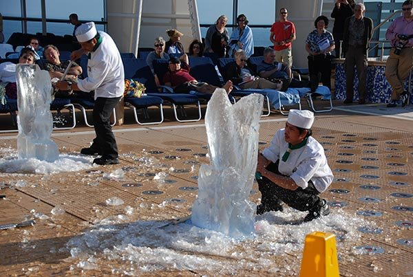 Ice Carving On The Celebrity Equinox