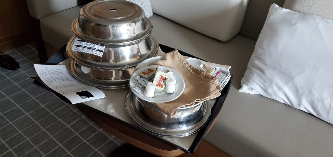 The Many Plate of In Room Dining