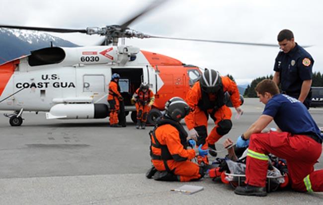A medical evacuation in Juneau, Alaska