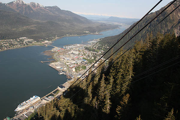 Port of Juneau from Mt Roberts