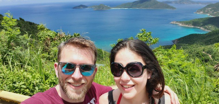 Larissa and Billy in Tortola