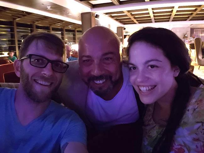 Larissa, Mauro, and Me Saying Goodbye