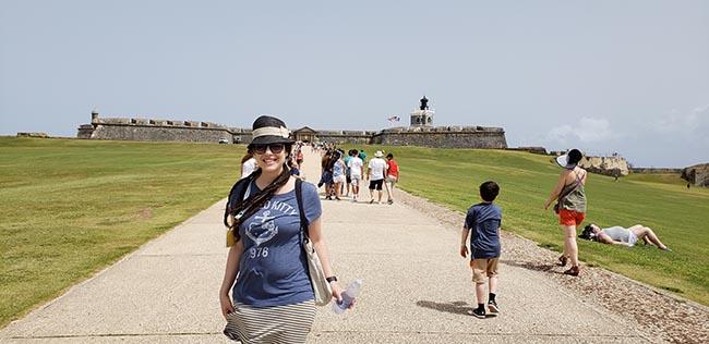 Larissa in front of El Morro in Old San Juan