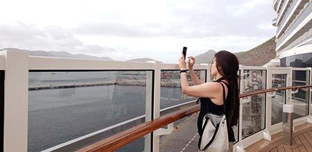 Larissa on the deck of MSC Seaside
