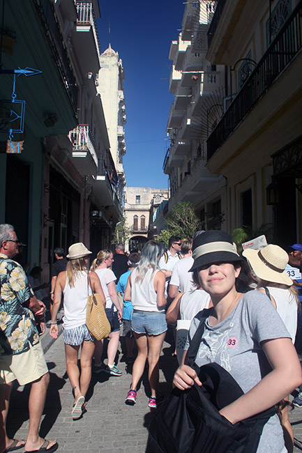 Americans on a guided tour in Havana, Cuba