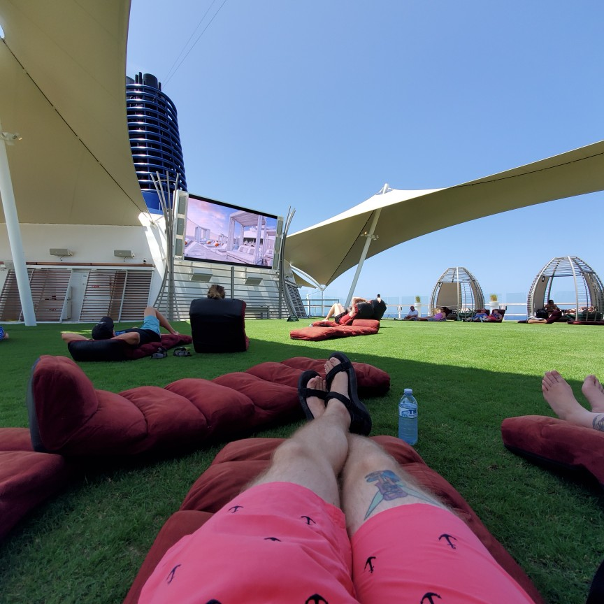Laying Down at the Lawn Club on Equionox
