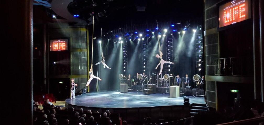 """Aerialists in """"Life"""" on Celebrity Equinox"""