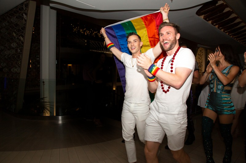Olympic medalist Adam Rippon, Grand Marshall of Celebrity Cruises Third Annual Pride Party at Sea