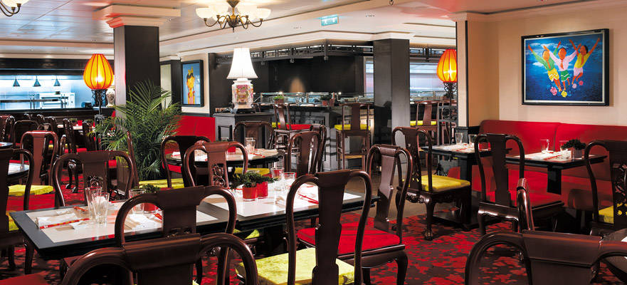 Shanghai Restaurant on the Norwegian Escape is a complimentary venue