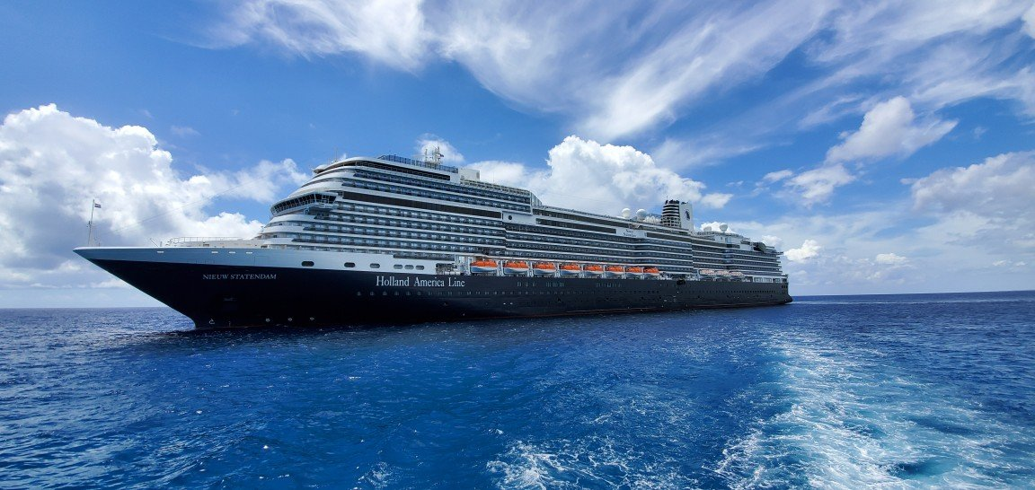 Nieuw Statendam as Seen from a Tender Heading to Half Moon Cay