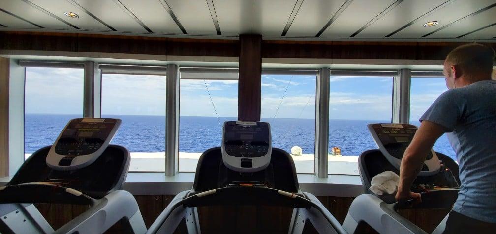 Treadmill View - Gym on HAL Nieuw Statendam
