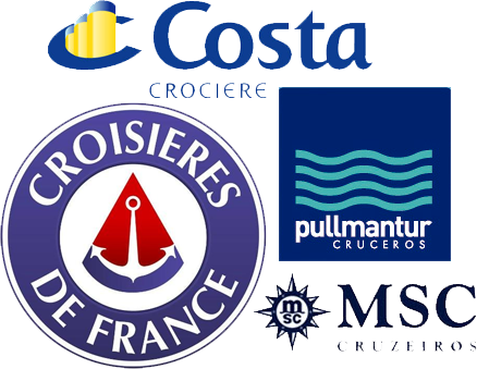 various cruise line logos from other countries