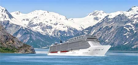 render of the Norwegian Bliss in Alaska