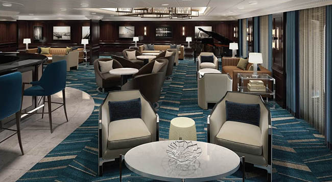 A Lighter Martini's Bar on Oceania R-Class Ships