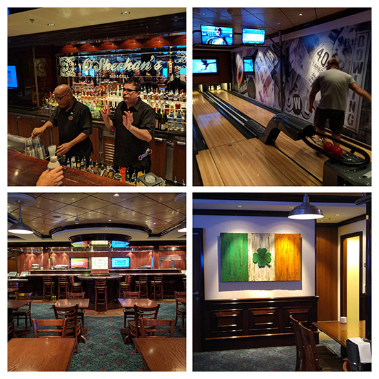 O'Sheehan's On the Norwegian Escape - A great venue, but all inside