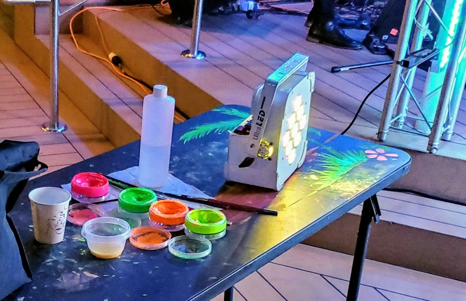 Paints at Full Moon Party on Equinox