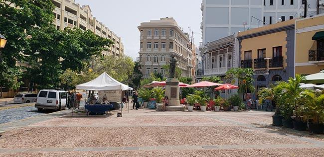 Plaza Colon Near the Cruise Port in Old San Juan