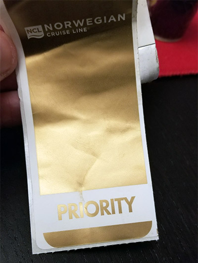 NCL Priority Luggage Tag