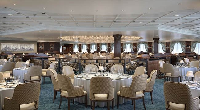 The New Grand Dining Room on Oceania's R-Class Ships