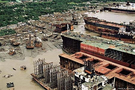 A Scrapyard in Bangladesh