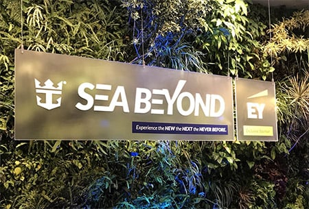 Royal Caribbean Cruise Lines' Sea Beyond Event in NYC - sign