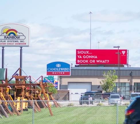 Virgin Voyages South Dakota Billboard - Sioux... Ya gonna book or what?