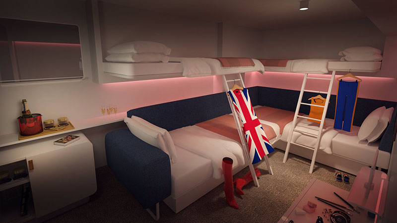 Social Insider 'Loft' Cabin on Virgin Voyages' Scarlet Lady