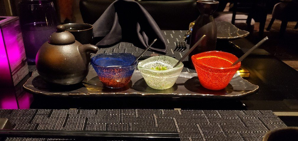 Table Setting with Condiments in Tamarind on Nieuw Statendam
