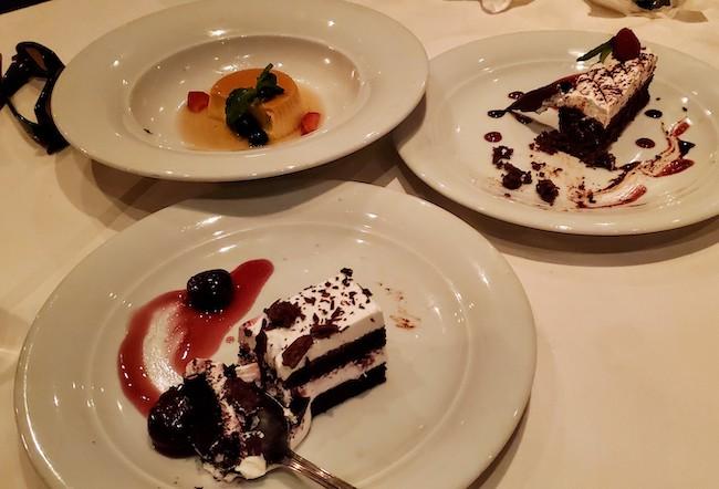 Three Desserts, Billy?  Yes, Three Desserts.