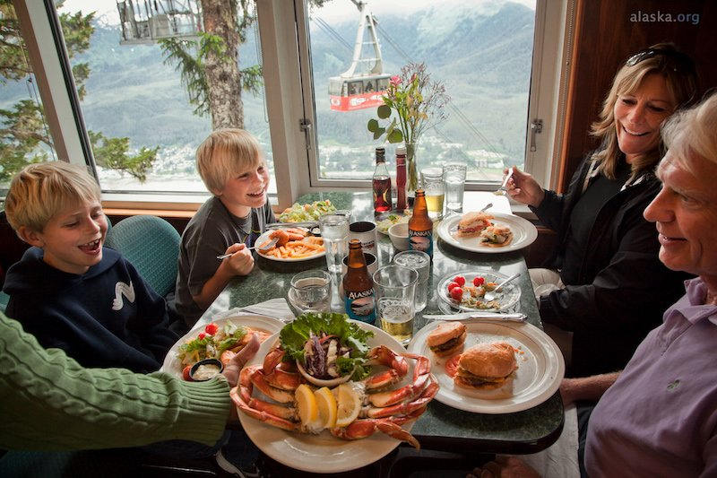 A Meal With a View at Timberline at Mount Roberts (photo courtesy alaska.org)