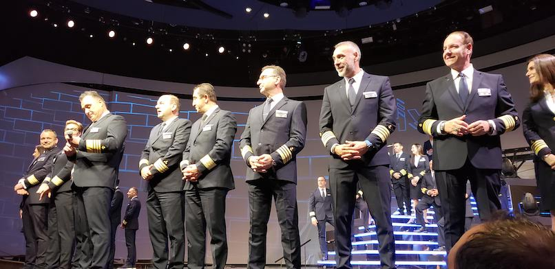 Celebrity Captains on Stage