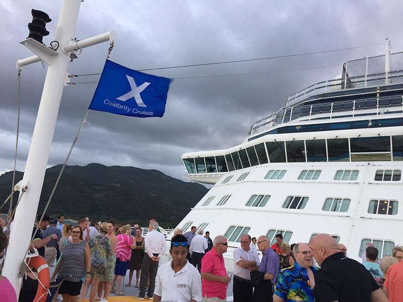 Celebrity Reflection Helipad sailing out of Labadee, Haiti