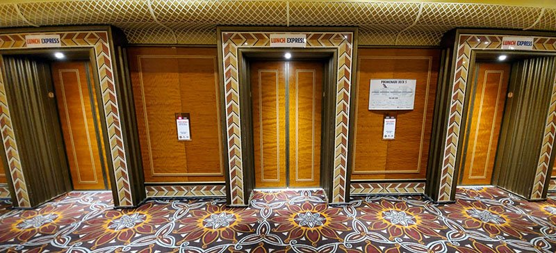 Lunch Express Elevators on Carnival Conquest