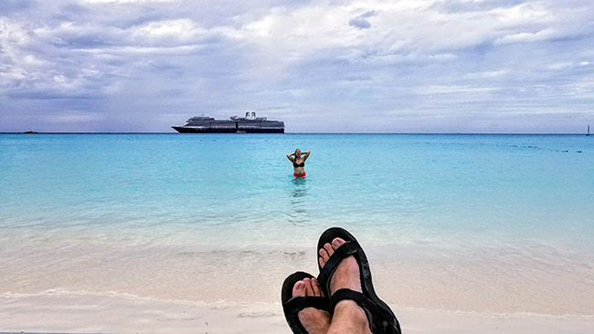 Nice View of Nieuw Amsterdam from Half Moon Cay