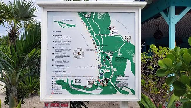 map of Half Moon Cay
