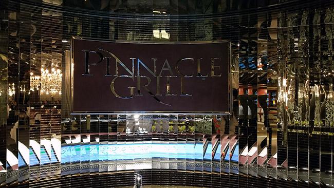 Pinnacle Grill on HAL Nieuw Amsterdam