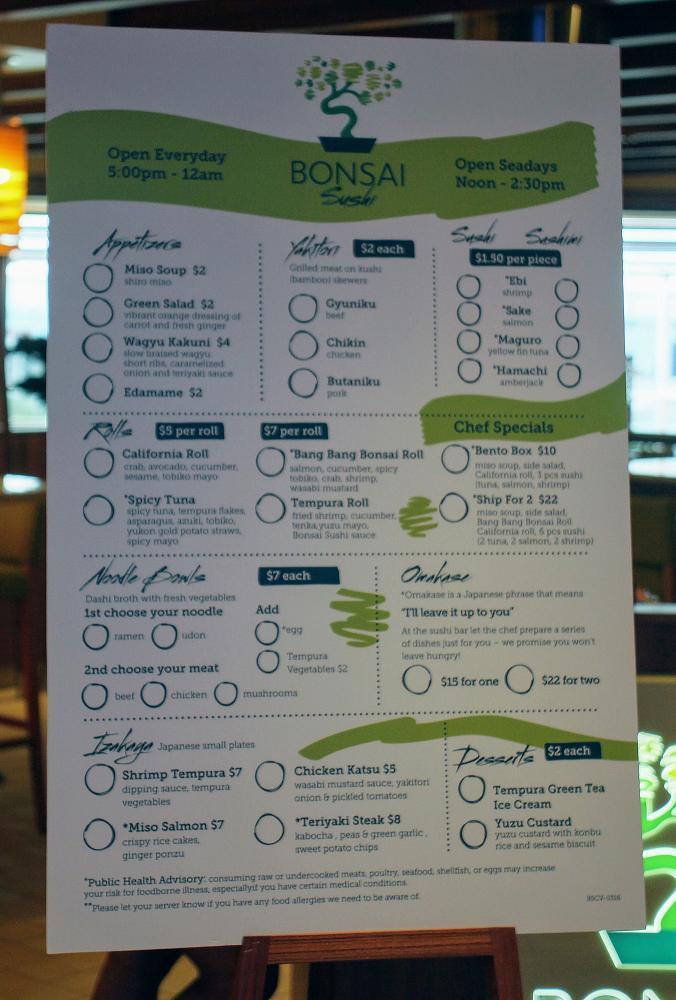 Sushi Day Restaurant Menu